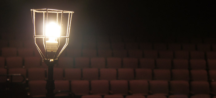 Ghost Light in theatre stalls